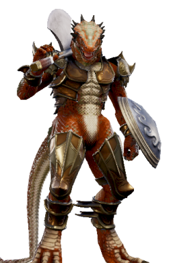 Custom Modded Series:Soulcalibur Style:Lizardman // 256x384 // 231.5KB