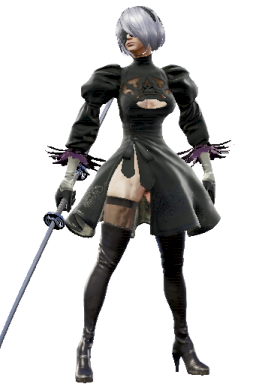 Alternate Genderswap Modded Series:Nier Style:Groh // 256x384 // 146.3KB